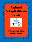 Animal Adaptation Sort - Physical and Behavioral