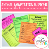 Animal Adaptation and Biome Research and Vocabulary Bundle