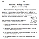 Animal Adaptations: Physical or Behavioral