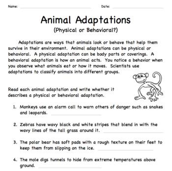Animal Adaptations: Physical or Behavioral