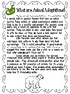 Animal Adaptations Reading Comprehension and Activities