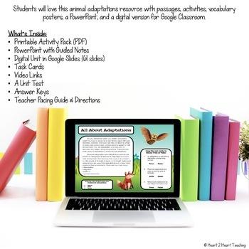 Animal Adaptations - Instincts, Learned Behaviors & Endangered Animals {175 pps}