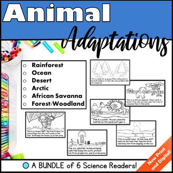Animal Adaptations - A Bundle of 6 Science Readers