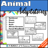 Animal Adaptations Bundle of 6 Readers Distance Learning G