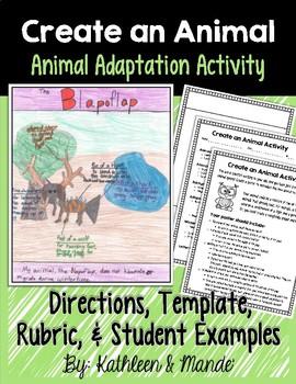 Animal Adaptations Activity: Create an Animal