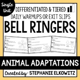 Animal Adaptations Bell Ringers