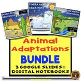 Animal Adaptations Bundle Interactive Notebooks Google Slides