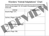 Animal Adaptations Chart (pair w/McGraw Hill Wonders Text
