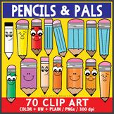 Pencil and Pals Clip Art