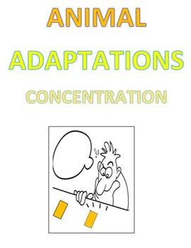 Animal Adaptations Concentration