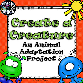 Animal Adaptations Create a Creature Craftivity