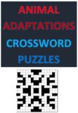 Animal Adaptations Crossword Puzzles