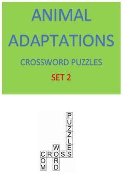 Animal Adaptations Crossword Puzzles -- Set 2
