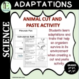 Adaptations of Animals Cut and Paste Activity