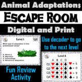 Animal Adaptations Activity: Escape Room - Science