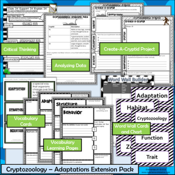 Animal Adaptations Extension Pack - Cryptozoology