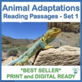 Animal Adaptations Informational Reading Passages in Pdf and TpT Easel