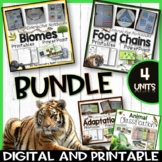 Animal Adaptations, Food Chains, Biomes Huge Science Bundle Distance Learning