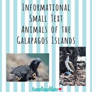 Animal Adaptations Informational Text Galapagos Islands