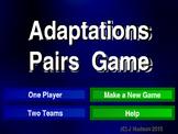 Animal Adaptations Interactive Matching Pairs Game