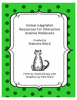 Animal Adaptations Interactive Science Notebook Resources