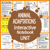 Vertebrates and Invertebrates Animal Adaptations Interactive Notebook Unit