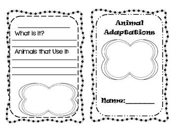 Animal Adaptations  Mini Book