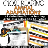 Animal Adaptations Reading Comprehension Passages and Questions Close Reading