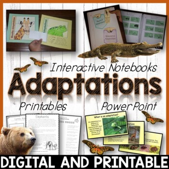 animal adaptations pack printables interactive notebook editable powerpoint. Black Bedroom Furniture Sets. Home Design Ideas