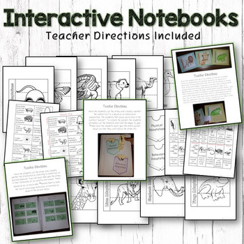 Animal Adaptations Pack – Printables, Interactive Notebook, Editable PowerPoint
