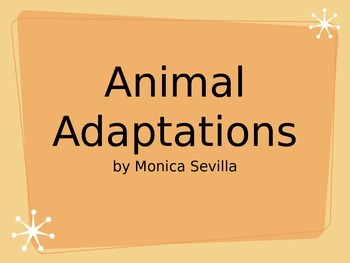 Animal Adaptations Powerpoint