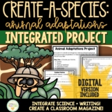 Animal Adaptations Activity & Project (Writing Integration)