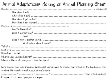 NGSS Aligned: Animal Adaptations Project
