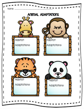 Animal Adaptations QR Codes