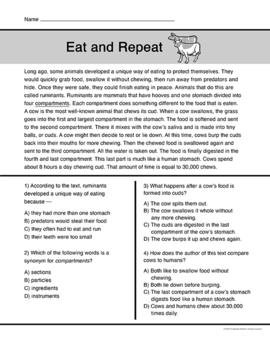 Animal Adaptations Reading Passages