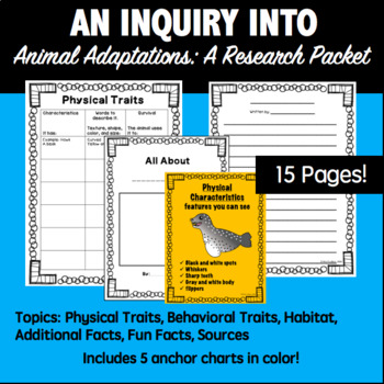 Animal Adaptations Research Packet