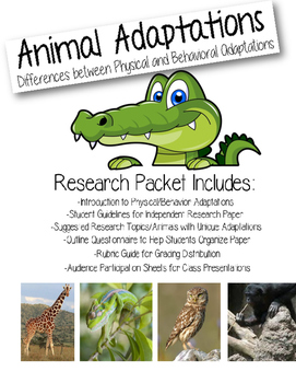 Animal Adaptations: Complete Research Project for Students