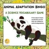 Animal Adaptations Science Vocabulary Bingo Game Printable