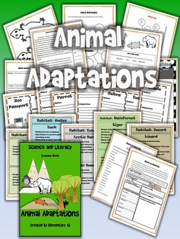 Animal Adaptations- Science and Literacy Lesson Set (STAAR & NGSS)