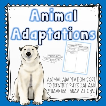 Animal Adaptations Sort