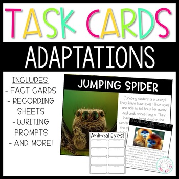 Animal Adaptations Fact Cards