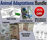 Animal Adaptations Task Cards and Activities Bundle