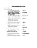 Animal Adaptations Test Grade 4