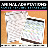 Animal Adaptations Unit: Science & Literacy Unit through C