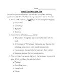 Animal Adaptations Unit Test