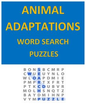Animal Adaptations Word Search Puzzles