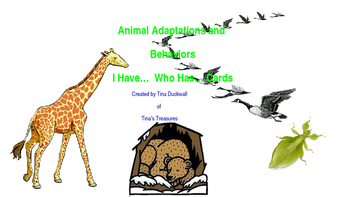 Animal Adaptations and Behaviors I Have... Who Has.. Cards