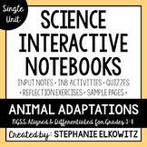 Animal Adaptations and Behaviors Interactive Notebook Unit
