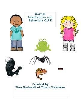 Animal Adaptations and Behaviors Quiz