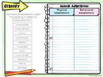 Animal Adaptations for Google Classroom